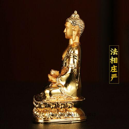 Tibetan brass gilt Religious rites handmade Buddhism Amitabha Longevity Buddha