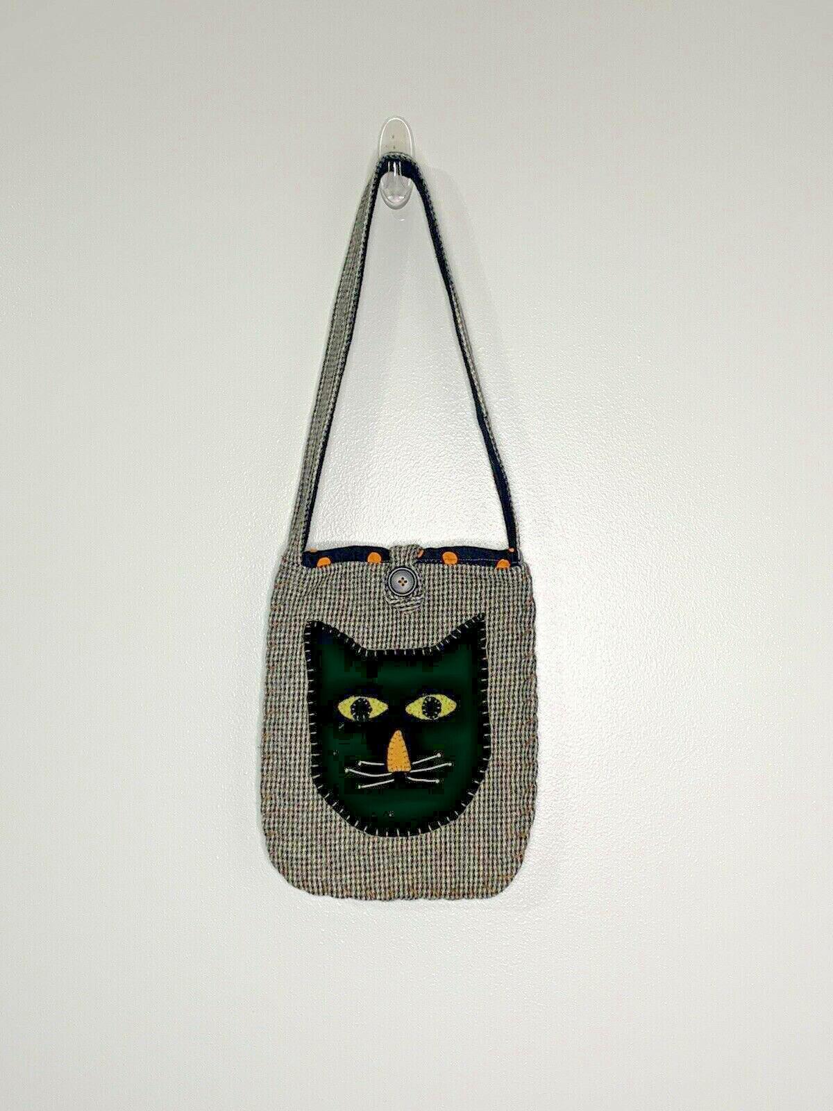 Wool Black Cat Bag Purse Shoulder Bag Handmade? U… - image 2
