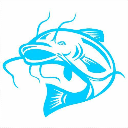 TWO Catfish Vinyl Decal Sticker 2 Pack