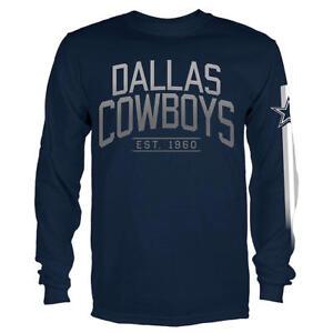 53180920b5 A imagem está carregando Dallas-Cowboys-Nfl-Masculina -Manga-Longa-Azul-Marinho-