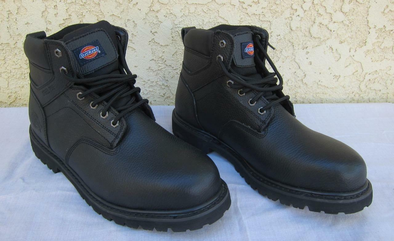 Dickies Prowler Steel Toe Work Boots shoes 504007BLK Mens 14 New - No Box