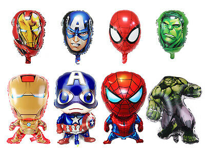 4pcs Avengers Ironman Hulk Captain America Spiderman Balloon Superhero Party
