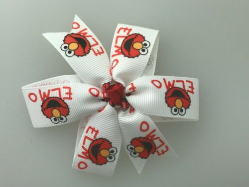 Elmo Hair Bow with Alligator Clip