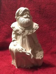 Ceramic-Bisque-Antique-Santa-with-Deer-Gare-Mold-1569-Ready-To-Paint