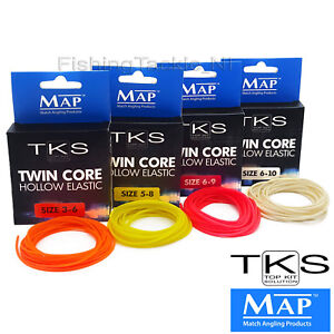 MAP-TKS-Twin-Core-Hollow-Pole-Elastic-3m-Various-Sizes-amp-Colours-Fishing