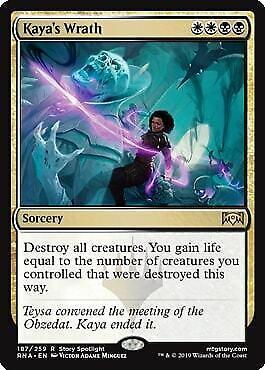 MTG Magic Ravnica Allegiance Kaya/'s Wrath Rare