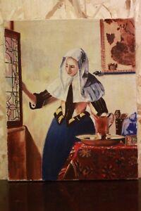 Dipinto / quadro olio su tela raffigurante donna XX sec, painting oil on canvas - Italia - Dipinto / quadro olio su tela raffigurante donna XX sec, painting oil on canvas - Italia