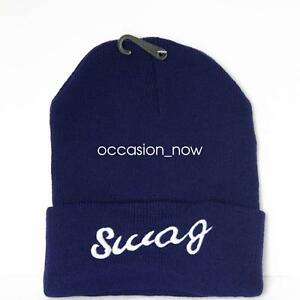 UNISEX-MENS-WOMANS-KNIT-KNITTED-BEANIE-RETRO-COOL-HAT-SWAG-BLUE
