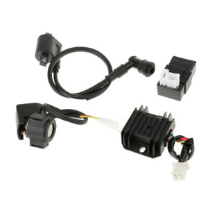 Ignition Coil CDI Regulator Rectifier Relay For 110cc Chinese ATV Quad Dirt Bike