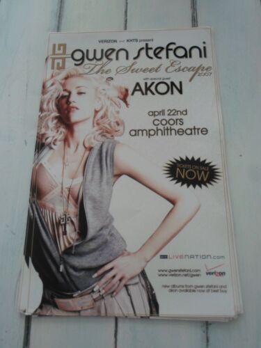 "GWEN STEFANI Concert Poster AKON San Diego Coors Amphitheatre 11/""x17/"""