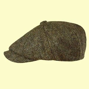 d56807d0 Image is loading Failsworth-Harris-Tweed-Carloway-Cap-Beckham-Newsboy-Peaky-