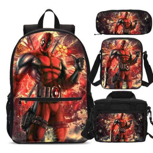 Deadpool Superior Big Backpacks Insulated Lunch Bag Pencil Case Shoulder Bag Lot