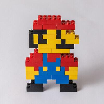 Lego MOC Super Mario 60 Bricks Custom Stile 8-bit Pixel Art SUPERMARIO