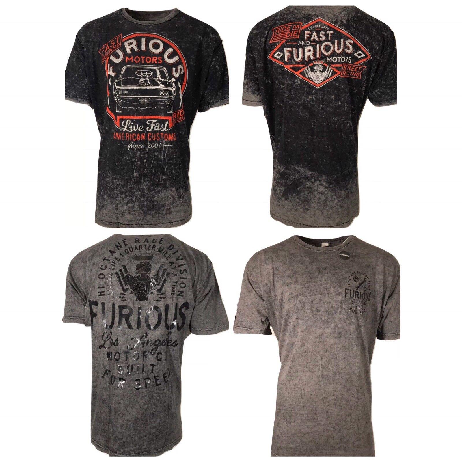 AFFLICTION Mens T-Shirt Reversible FAST & FURIOUS Tattoo Biker MMA UFC 4XL