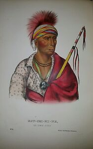 Plate-No-91-NOT-CHI-MI-NE-1872-Octavo-History-of-Indian-Tribes-of-N-America