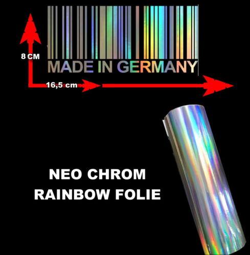 Made in Germany-auto pegatinas Rainbow cromo lámina sticker tuning car foil