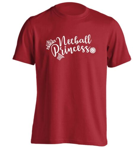 t-shirt sport game net goal team fitness hipster gift 5424 Netball princess