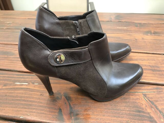 Beautiful Bandolino Woman's Shoes Brown Leather Boots Size 11 Great Condition