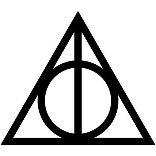 "Harry Potter Deathly Hallows Symbol 3/"" Vinyl Decal Car Window Laptop Sticker"