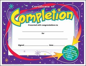 30 certificates of completion large certificate award pack by image is loading 30 certificates of completion large certificate award pack yelopaper Images