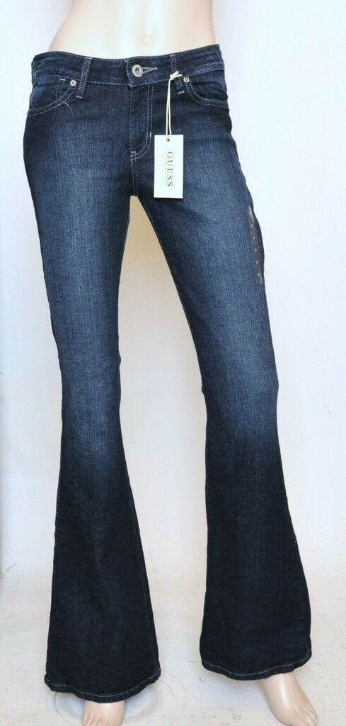 Nwt GUESS Flare Leg Slim Fit Mid Rise Stretch Jeans Pants Dime Clean Wash 26