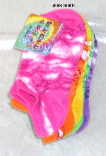 Socksational Girls No-Shows Socks Multi 6 Pair Stretch Kids Fits size 6-8.5 NEW