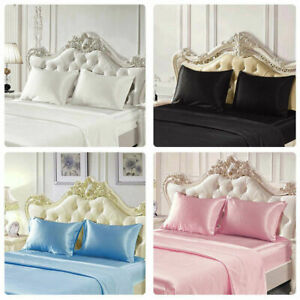 Soft-Satin-Silk-Pillowcase-Mulberry-Pillow-Slip-Cover-Beauty-Hair-Protection-New