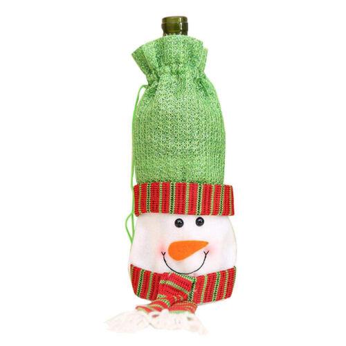 Christmas Wine Bottle Cover Champagne Bottle Bag Christmas Ornaments