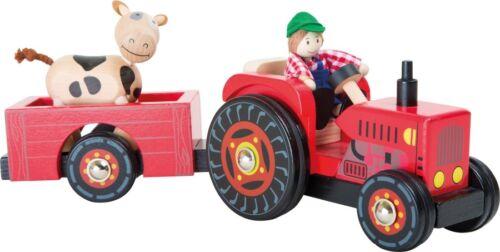 """Traktor mit Anhänger """"Bauernhof"""", inkl. Bauer und Kuh"""