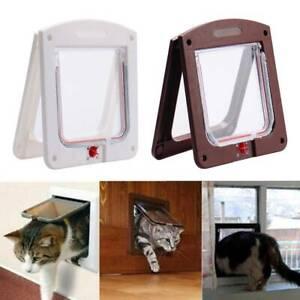 Pet-Door-4-Way-Lockable-Dog-amp-Cat-Flap-Small-Medium-Large-Magnetic-Door-Frame-UK