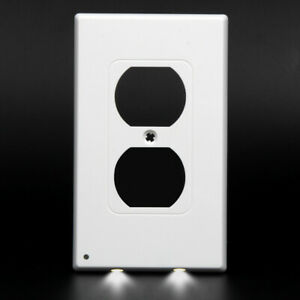 Wall-Night-Angel-Light-Sensor-Plug-in-2-LED-Outlet-Cover-Coverplate-110V-2-Style