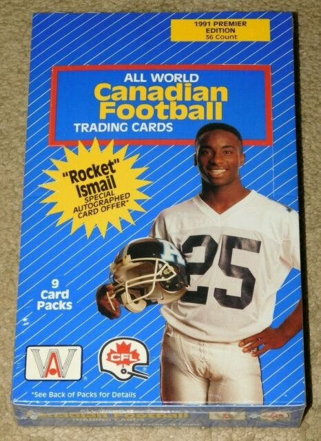 1991 ALL WORLD CANADIAN FOOTBALL UNOPENED FACTORY SEALED BOX - 36 Packs