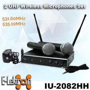 E-Lektron-IU-2082HH-Digital-UHF-2-x-Handheld-Wireless-Microphone-System-Set