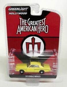 Greenlight-1-64-Scale-1978-Dodge-Monaco-The-Greatest-American-Hero-Diecast-Car