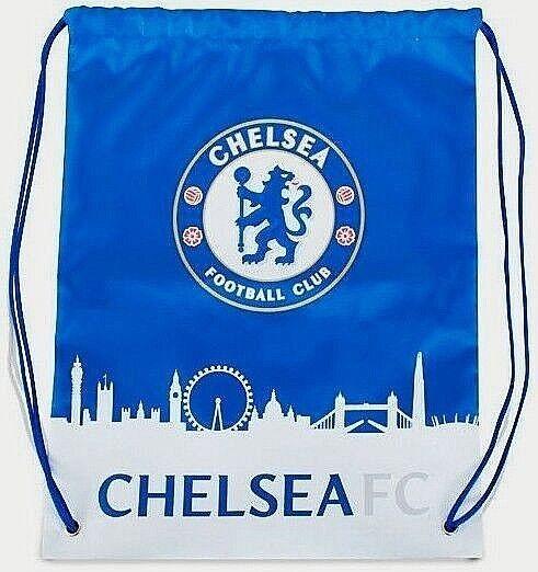 7de1c222f2 Chelsea FC Official Skyline Football soccer Crest Drawstring Gym Bag for  sale online