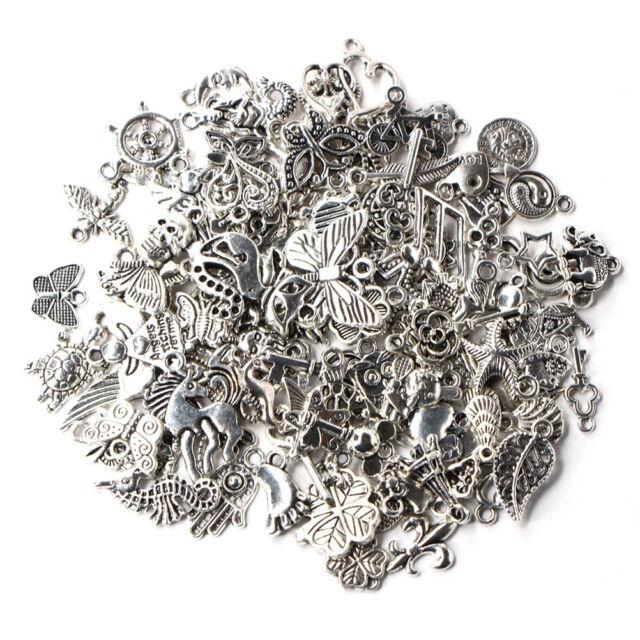 Wholesale 100pcs bulk tibetan silver mix charm pendants jewelry wholesale 100pcs bulk tibetan silver mix charm pendants jewelry making diy aloadofball Gallery