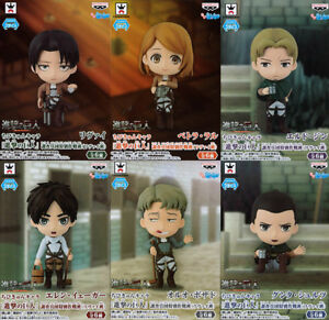 Attack-on-Titan-Chini-Kyun-Chara-Levi-group-all-6-set-figure-Eren-petra-JAPAN