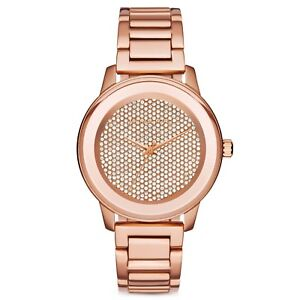 Micheal-Kors-Damen-Armbanduhr-Edelstahl-MK6210-Rose-Gold-Strass-Neu