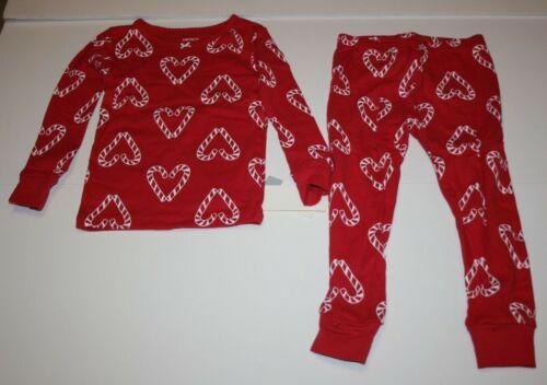 NEW Carter/'s 2 Piece PJs Girls Red Candy Cane Pajamas  2 3 4 5 6 7 8 10 12 14 yr