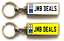 miniature 19 - Personalised Metal Double Sided Registration Number Plate Keyring Any Name /Text
