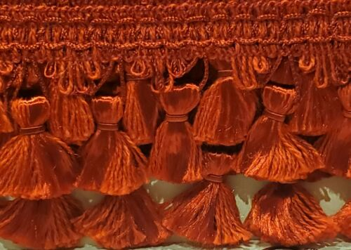 20 Yds Available Red-By the Yd 2 1//4 inch Tassel Fringe Trim-Colour
