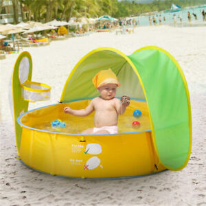 Details about New Portable Kids In/Outdoor Play Tent Swimming Pool UV  Protection Sun Shelters