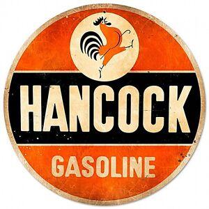 Hancock-Benzina-Rotondo-Insegna-Acciaio-360mm-Diametro-Pst