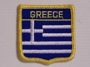 GREECE-EMBROIDERED-PATCH-SHIELD-WOVEN-CLOTH-BADGE-SEW-ON-JACKET-HAT-FLAG-GREEK