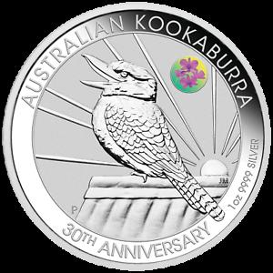 2020-Brisbane-ANDA-30th-Ann-Kookaburra-Cook-Town-Orchid-Privy-1oz-Silver-Coin