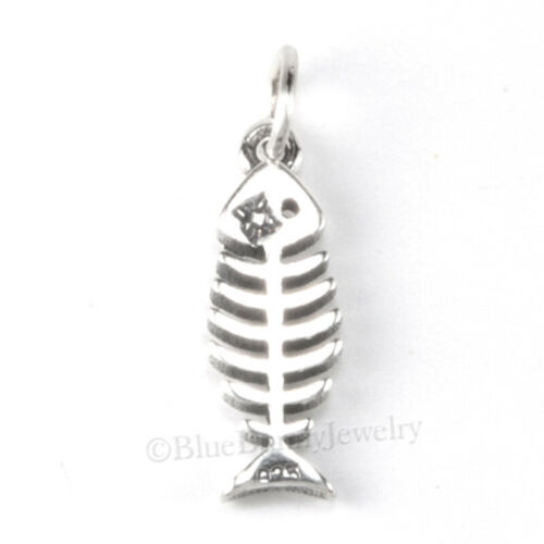 Fish Os Charme Argent Sterling 925 aliments CHEF Pendentif Petits SZ .925