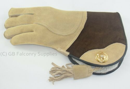 Falconry Suede Double skinned glove fur lined.LADIES SIZES  Small large medium