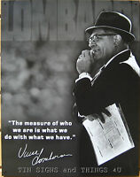 Vince Lombardi Measure Of Who We Are Tin Sign Quote Metal Photo Football 1726