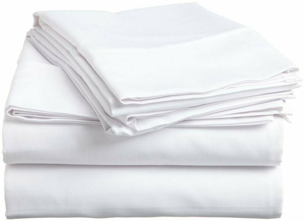 Luxurious Bedding Set White Solid 100% Cotton 800-Thread Count All Sizes