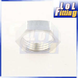 AN-12-12-AN-AN-12-BULKHEAD-ALUMINIUM-NUT-FITTING-ADAPTER-SILVER